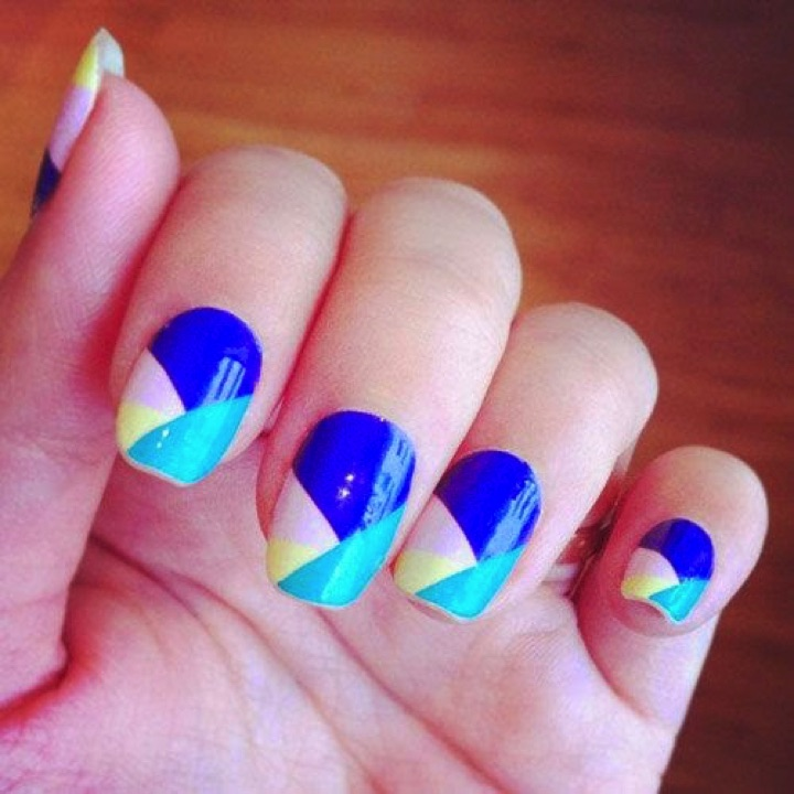 13 Easy Nail Designs - Play with colors for easy nail designs.