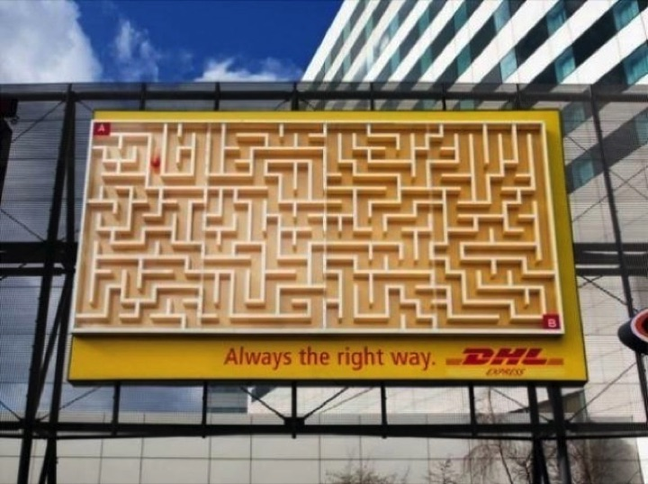 21 Creative Billboard Ads - Your package always gets from A to B.