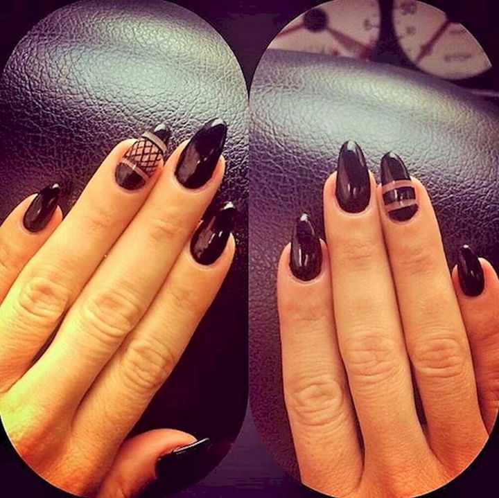22 Black Nails That Look Edgy and Chic - One word: WOW!