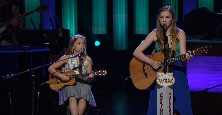 """Lennon and Maisy Sing """"Ring of Fire"""" Cover at Grand Ole Opry."""