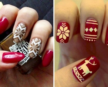 15 Ugly Christmas Sweater Nail Art Designs to Ring in the Season.