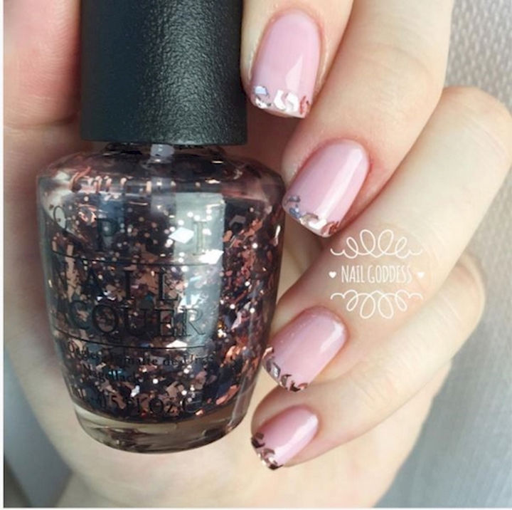 17 French Nails With a Twist - A little glitter goes a long way.