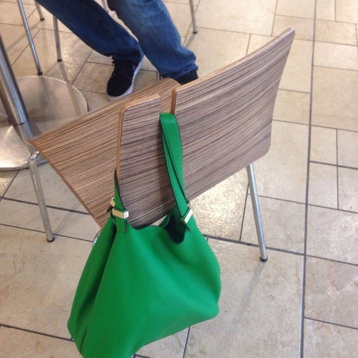 17 Clever Inventions - Easily hang your handbag.