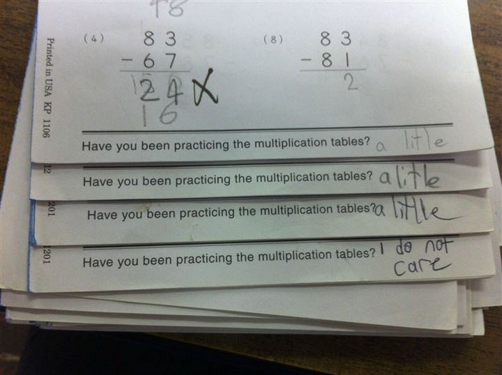 18 Funny Test Answers - He tried but doesn't really care anymore.