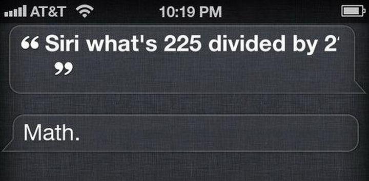 Thanks Siri?