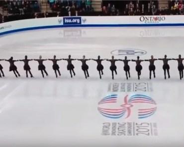 Canada Nexxice Team Perform at 2015 World Synchro Skating.