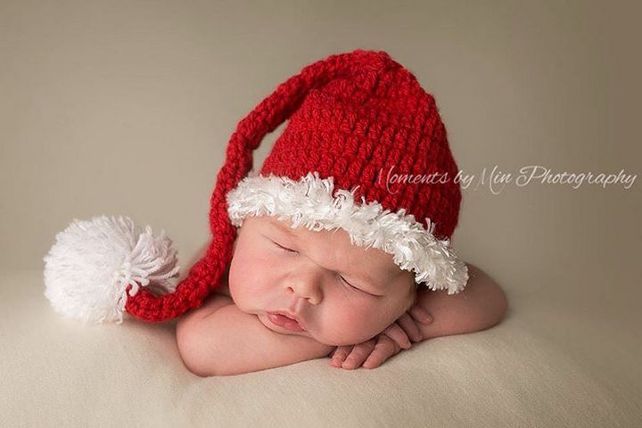 13 Cute Babies Wearing Christmas Outfits - A Christmas angel.