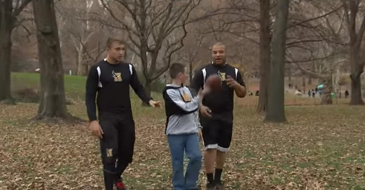 Two High School Football Players Protect 5th Grader from Bullying.