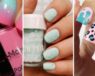 17 Cotton Candy Nails and Manicures That Look so Sweet.