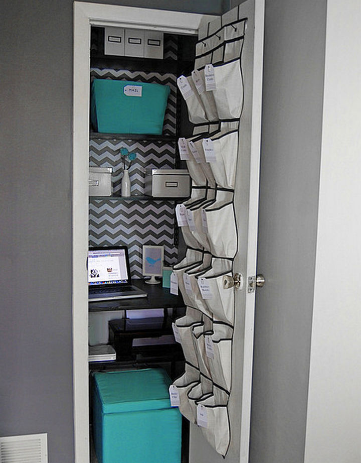 21 Clever Shoe Organizer Ideas - Organize your home office.