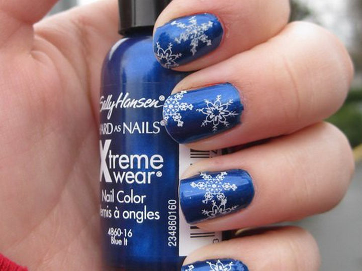 39 Winter Nails - Jack Frost nipping at your nose!