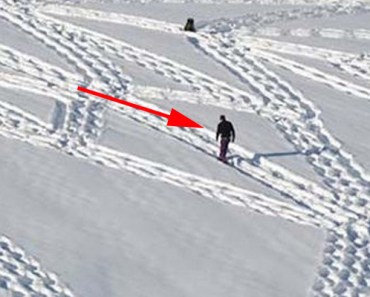 Artist Simon Beck Creates Beautiful Snow Art by Walking in the Snow.