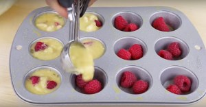 Flourless 3-Ingredient Berry Egg Muffins Recipe.