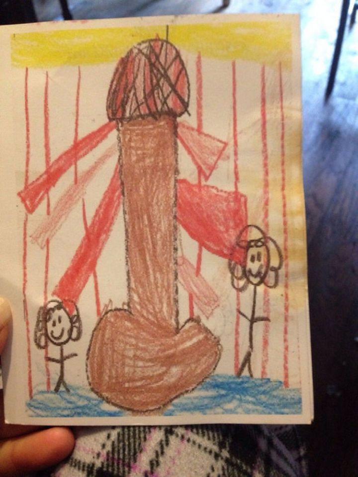 35 Funny Drawings from Kids - I see a lighthouse in there somewhere.