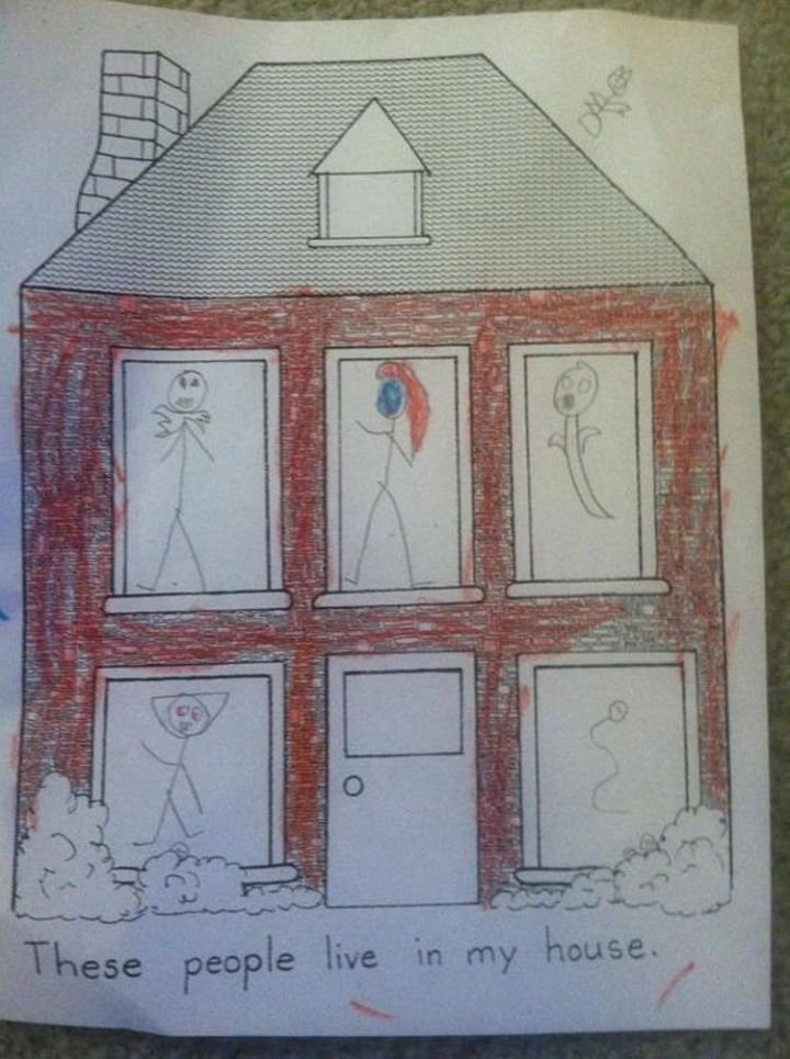 35 Funny Drawings from Kids - Is that a ghost?