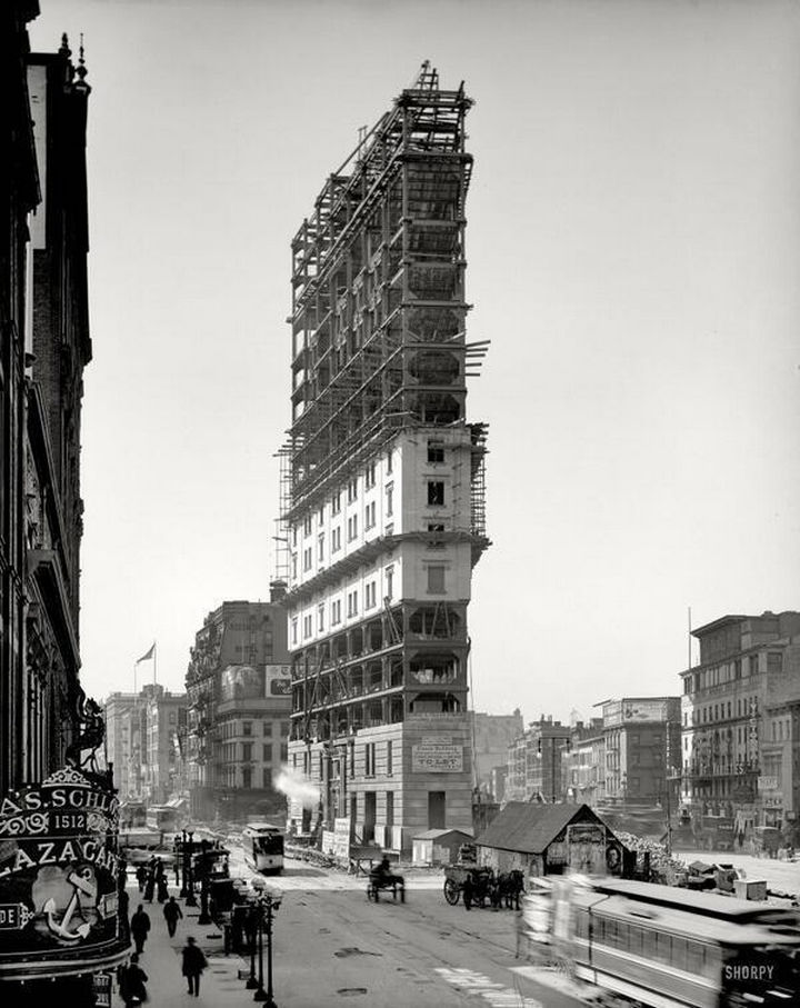 35 Rare Historical Photos - 1903: An early look at Times Square in New York City.
