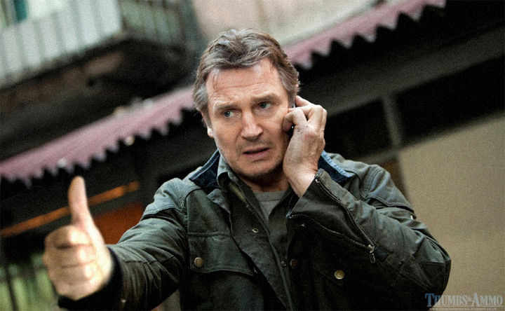 23 Movie Action Scenes Where Guns Were Replaced with a Thumbs-Up - 'Taken'