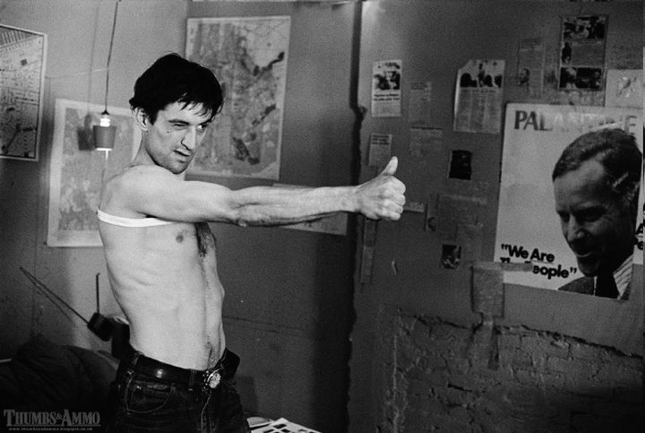 23 Movie Action Scenes Where Guns Were Replaced with a Thumbs-Up - 'Taxi Driver'