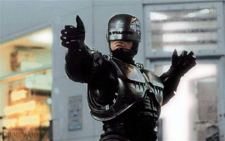 23 Movie Action Scenes Where Guns Were Replaced with a Thumbs-Up - 'RoboCop'