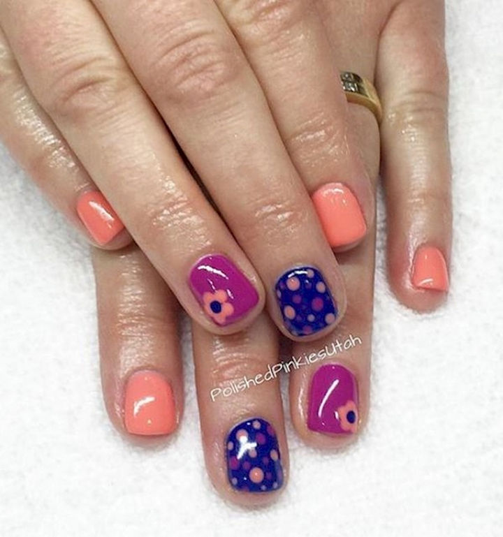 18 Spring Nails - Let loose this spring and flaunt your favorite colors and styles.