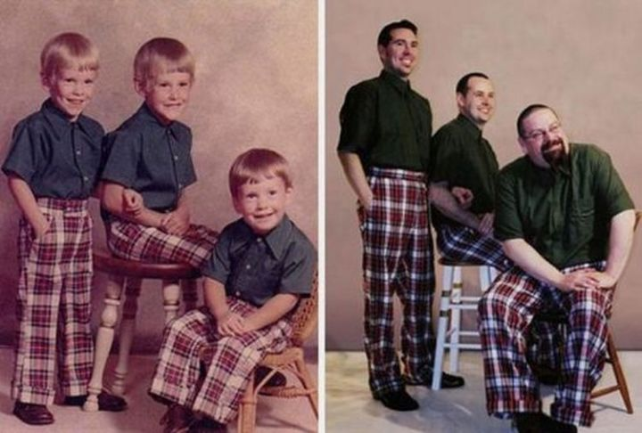 23 Then Now Photos - Plaid never goes out of style! LOL.