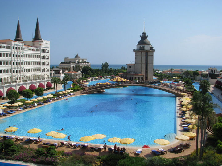 35 Epic Swimming Pools From Around the World - Mardan Palace Antalya Hotel in Turkey.