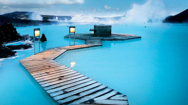 35 Epic Swimming Pools From Around the World - Blue Lagoon Geothermal Resort pool in Grindavík, Iceland.