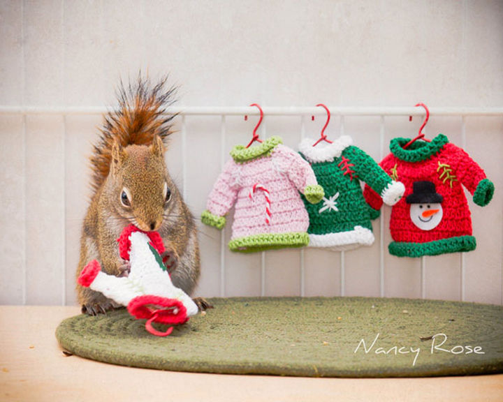 Almost done knitting these pretty holiday sweaters!