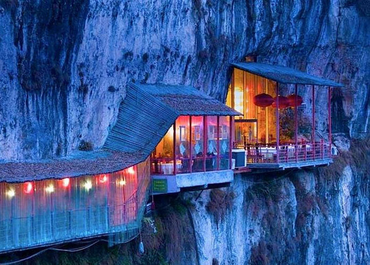 39 Amazing Restaurants With a View - Fangweng in Yichang, China.