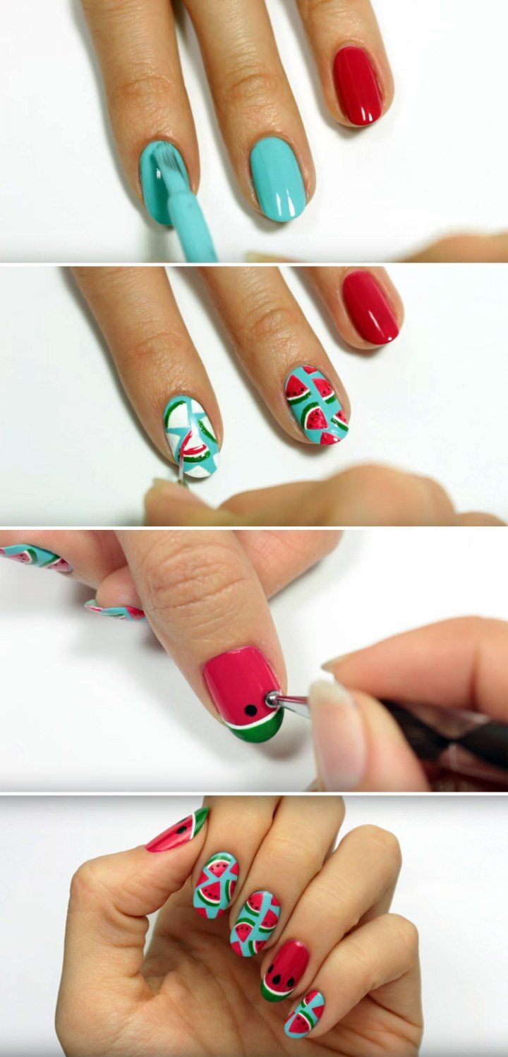 Looking for Fun Summer Nail Art? Learn How to Create These Awesome Watermelon Nails!