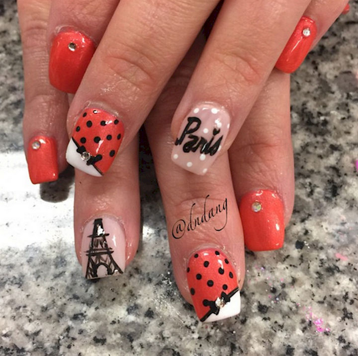 17 Bow Nail Art Designs - Bring the beauty of Paris to your nails.