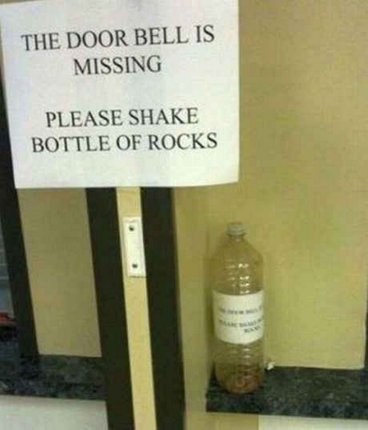 18 Funny Life Hacks - How do you lose a door bell?