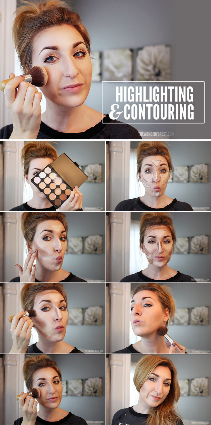 22 Kickass Life Hacks for Girls - Highlight and contour like a professional.