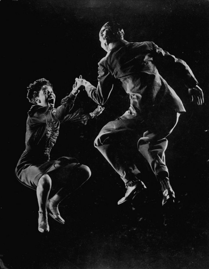 22 Timeless Images - Willa Mae Ricker and Leon James demonstrating a dance step of The Lindy Hop (1942).