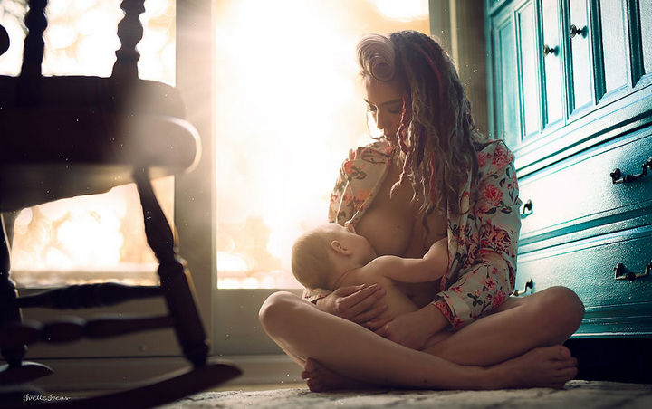 The connection between a mother and her baby is one of most powerful images of love.