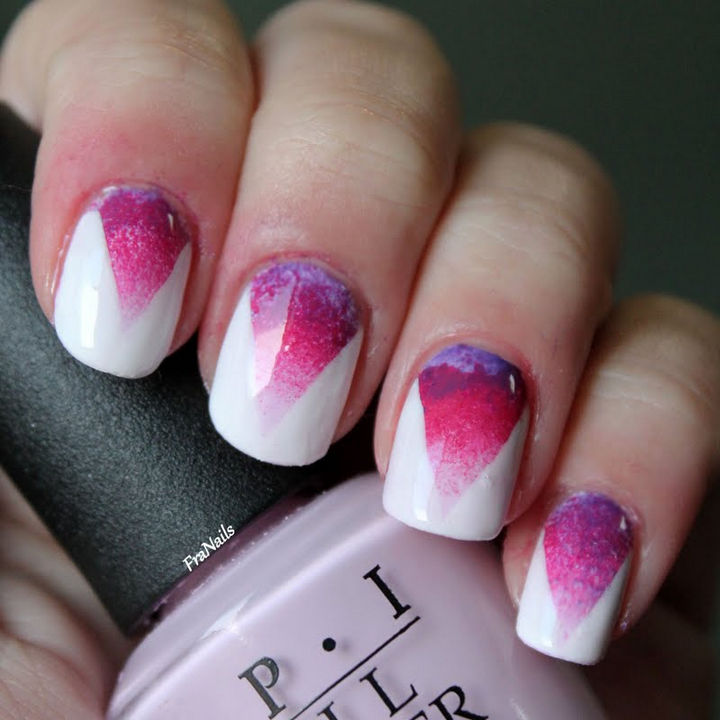 17 Gradient Nails - Combine two fabulous styles with this gradient nail art design.