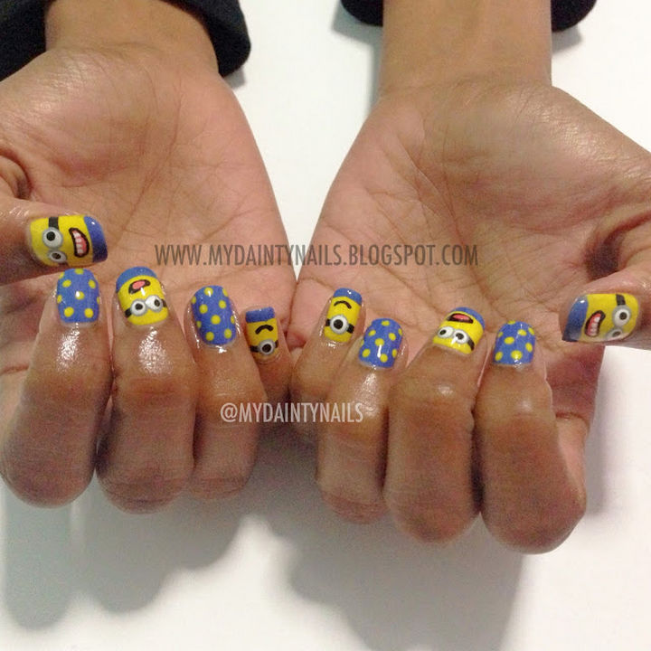 19 Minion Nails - Despicable Me minion nails!