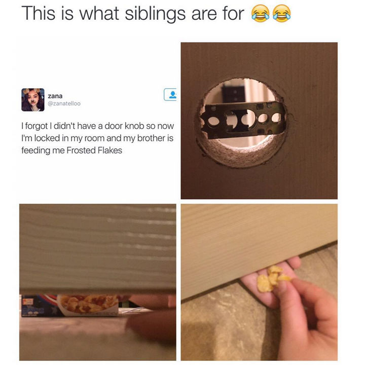19 Photos of Growing Up With Siblings - They are always there to help when you're in trouble.