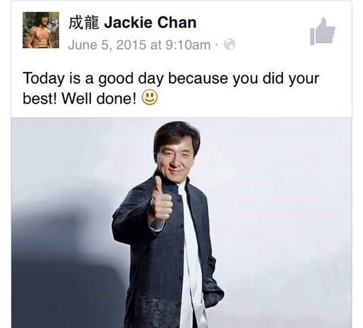 30 Happy Pictures - Thanks Jackie Chan, I needed that.