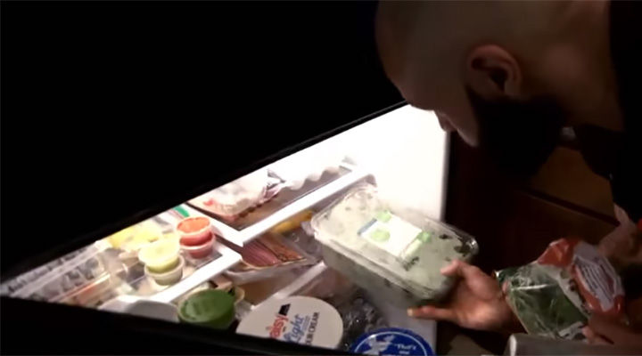 First, he cleaned out his entire refrigerator and removed all the junk food that led to his weight gain.