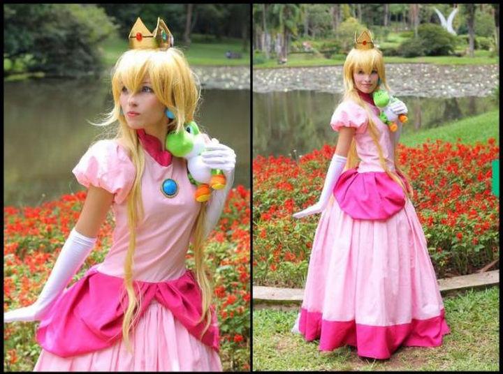 23 Super Mario and Luigi Costumes - This Princess Peach costume is so pretty!