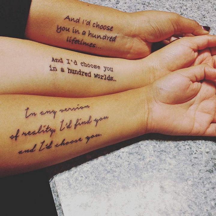 28 Sister Tattoos - I choose you, sister.