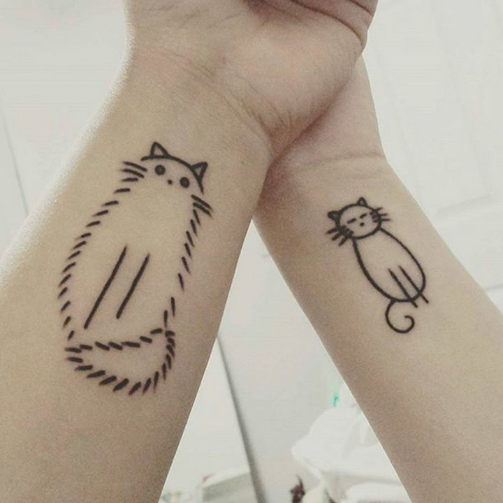 28 Sister Tattoos - A purrrfect sister.