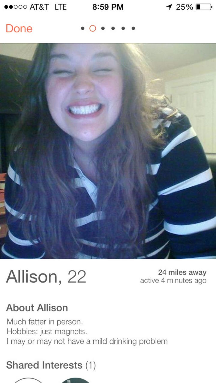19 Hilariously Honest People - Swipe right on Tinder?