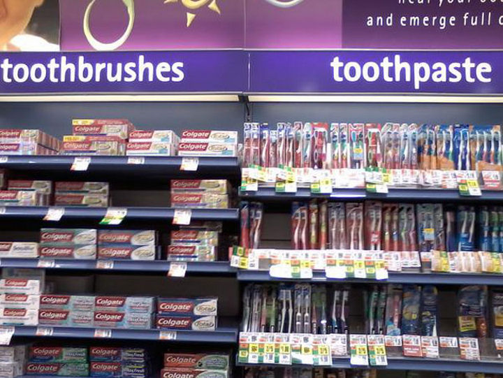 Toothpaste. Toothbrush. It's all the same.