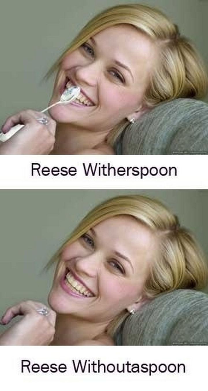 55 Hilariously Funny Celebrity Name Puns - Reese Witherspoon.