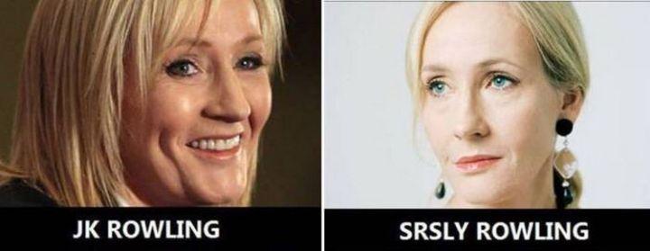 55 Hilariously Funny Celebrity Name Puns - JK Rowling.