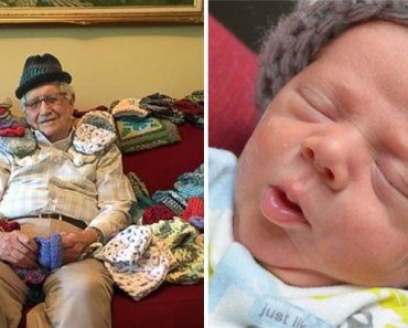 86-Year-Old Man Learns How to Knit to Create Hats for Premature Babies.