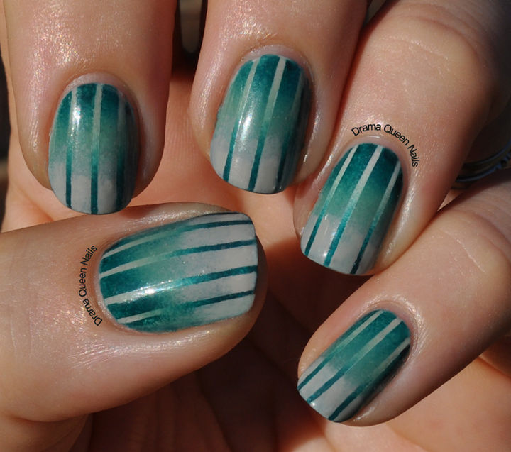 You'll be glad you tried reverse gradient nails when you try these beauties.