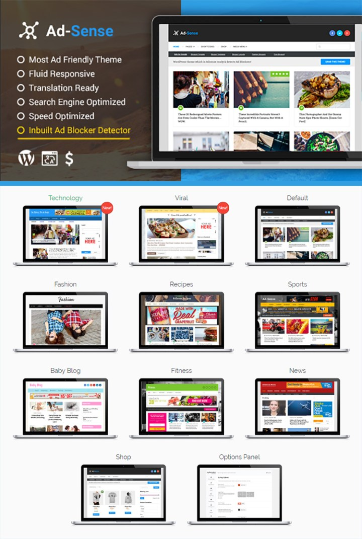 Installing a WordPress Theme - Ad-Sense by MyThemeShop